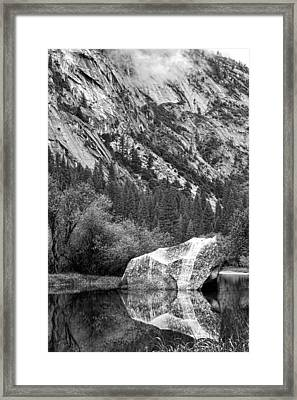 Rock Reflection Framed Print by Jason Abando