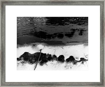 Rock Reflection Framed Print by Sarah Reed