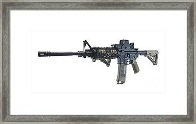 Rock River Arms Ar-15 Rifle Framed Print by Terry Moore
