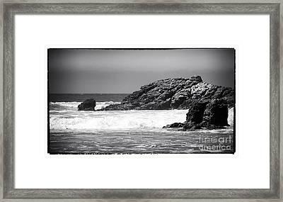 Rock Shapes Framed Print by John Rizzuto