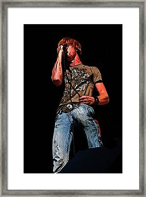 Rock Singer Framed Print by Randy Steele