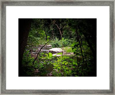 Rock Stream Framed Print by Michael L Kimble