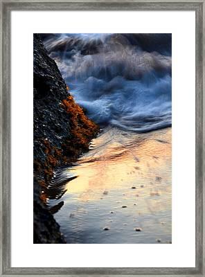 Rock Sunset Framed Print