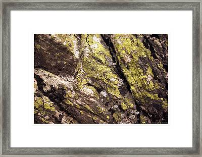 Rock Wall 1 Framed Print by Mark Ivins