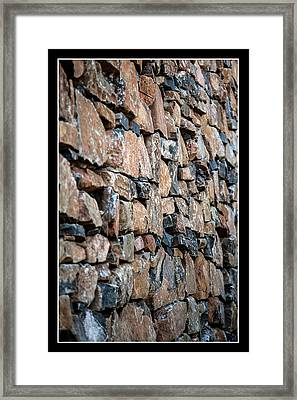 Rock Wall Framed Print by Miguel Capelo
