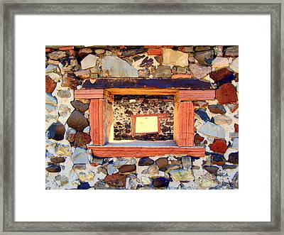 Rock Windows Framed Print by Judy Garrett