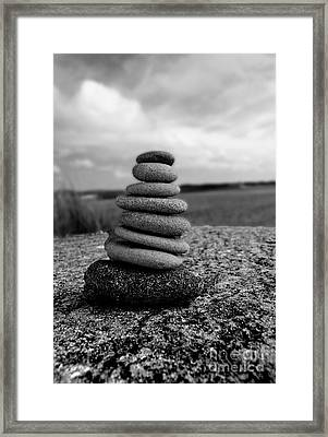 Rock Zen Framed Print by Kami McKeon