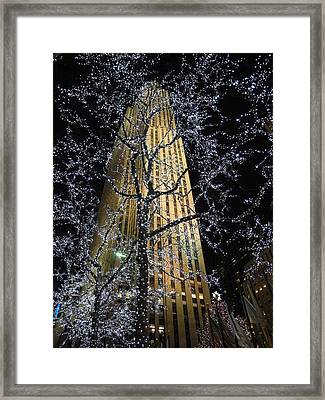 Rockefeller Center Christmas Framed Print by David Halperin