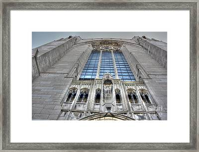 Rockefeller Chapel Entrance Framed Print by David Bearden