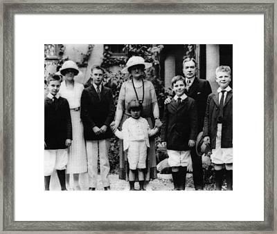 Rockefeller Family. From Left Laurance Framed Print