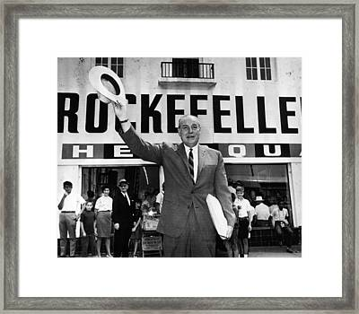 Rockefeller Family. Future Governor Framed Print by Everett