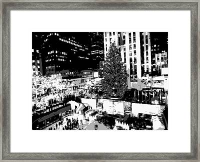 Rockefeller Tree Bw8 Framed Print by Scott Kelley