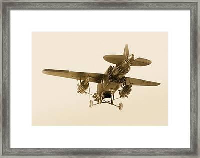 Rocket-powered Plane, 1928 Framed Print