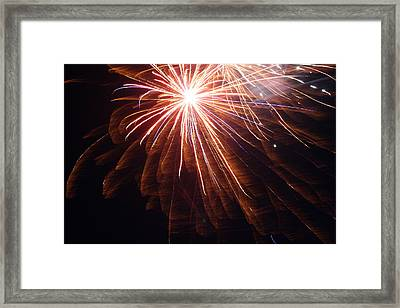 Rocket's Red Glare Framed Print by Heidi Yost