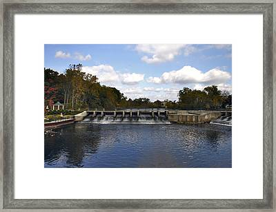 Rockford Dam Framed Print