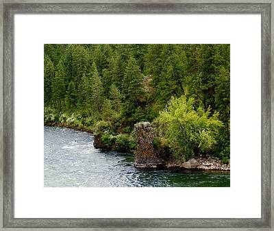 Framed Print featuring the photograph Rockin The Spokane River by Ben Upham III