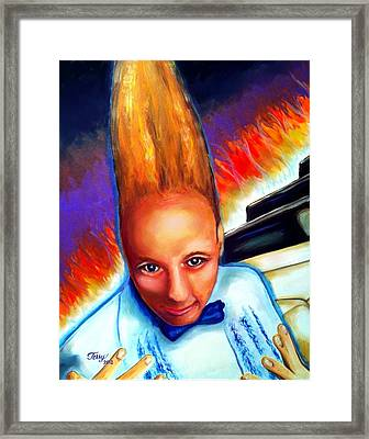Rockin Vince Vance Framed Print by Terry J Marks Sr