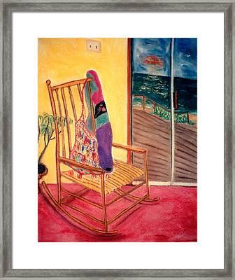Rocking Chair Framed Print by Eliezer Sobel