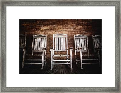 Rocking Chairs Framed Print by Skip Nall
