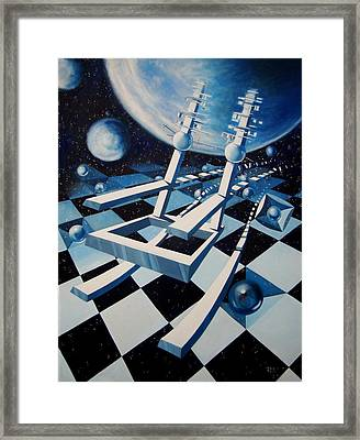Rocking Into Space Framed Print