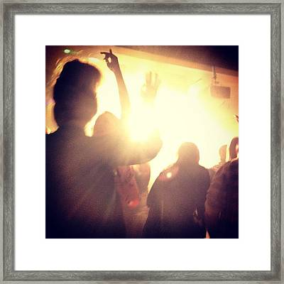 Rocking Out In The Light Framed Print