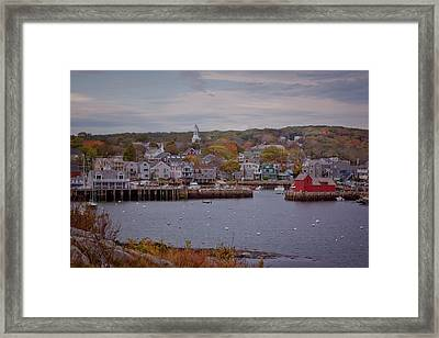 Framed Print featuring the photograph Rockport Harbor by Tom Singleton