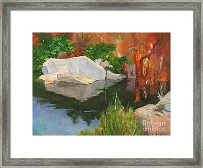 Rockport Quarry Reflection Framed Print