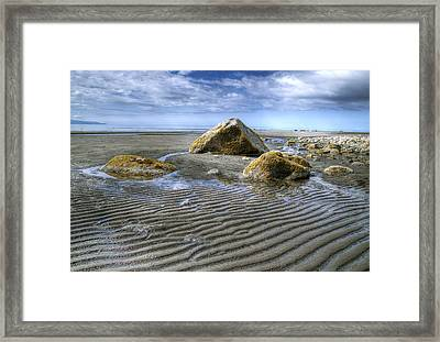 Rocks And Sand Framed Print by Michele Cornelius