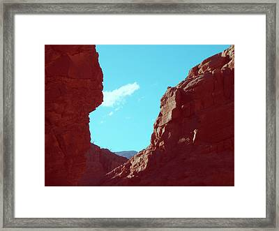 Rocks And Sky Framed Print