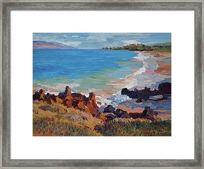 Rocks At Maui Beach Framed Print