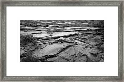 Rocks In Black And White At Zion National Park Framed Print
