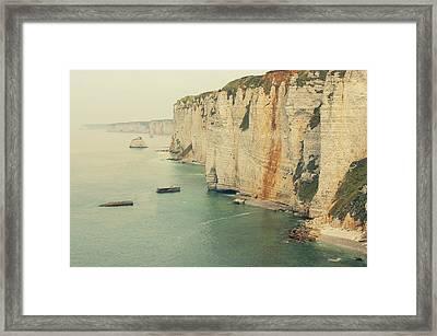 Rocks In Etretat, France Framed Print