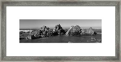Rocks In Ocean Framed Print by Twenty Two North Photography