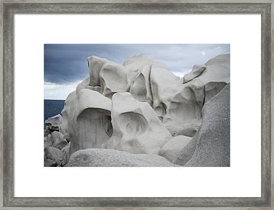 Rocks Of Capo Testa, Santa Teresa Di Gallura Framed Print by Giorgio Majno