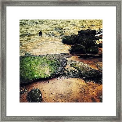 Rocks Upon The Shore Framed Print