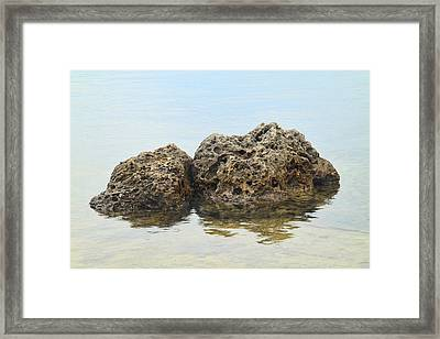 Rocks With Reflection Framed Print