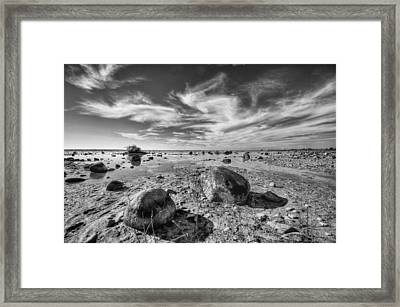 Framed Print featuring the photograph Rockscape by Coby Cooper