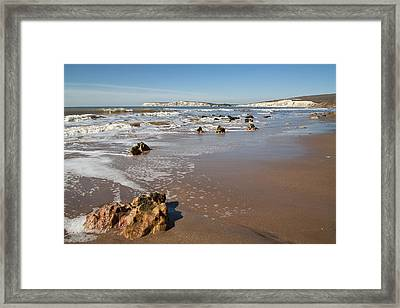 Rocky Bay Framed Print by Shirley Mitchell