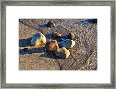 Rocky Beach  Framed Print by Ginger Harris