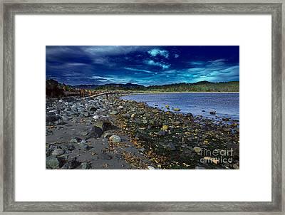 Rocky Beach In Western Canada Framed Print by Louise Heusinkveld