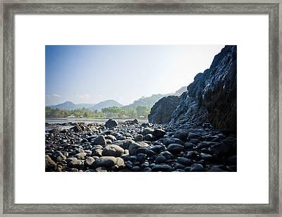 Rocky Beach Sunrise Framed Print by Anthony Doudt