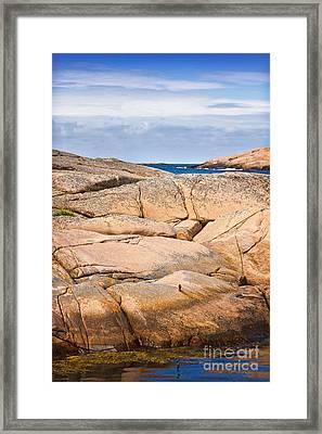 Rocky Coast Sweden Framed Print by Lutz Baar
