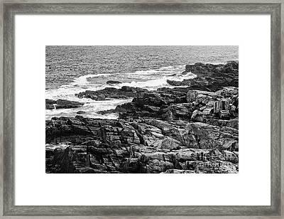 Rocky Coastline II - Black And White Framed Print by Hideaki Sakurai