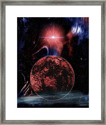 Rocky Extrasolar Planet Framed Print by Victor Habbick Visions