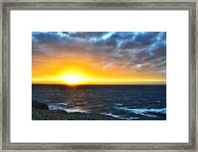 Rocky Harbour Nl Sunset Framed Print