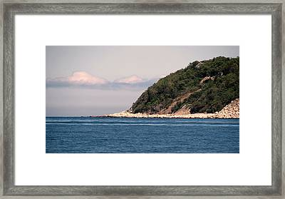 Rocky Hill Framed Print by Janice Drew