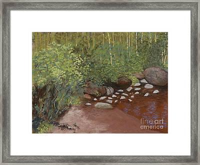 Rocky Mountain Creek Framed Print by Ginny Neece