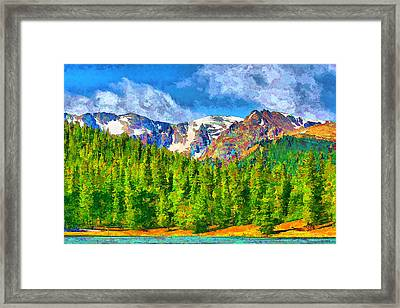 Framed Print featuring the digital art Rocky Mountain High by Brian Davis