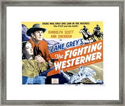 Rocky Mountain Mystery Aka, The Framed Print by Everett