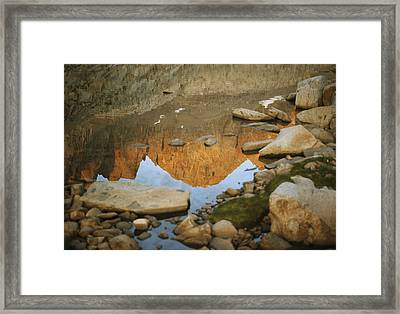 Rocky Mountain Peaks Are Reflected Framed Print